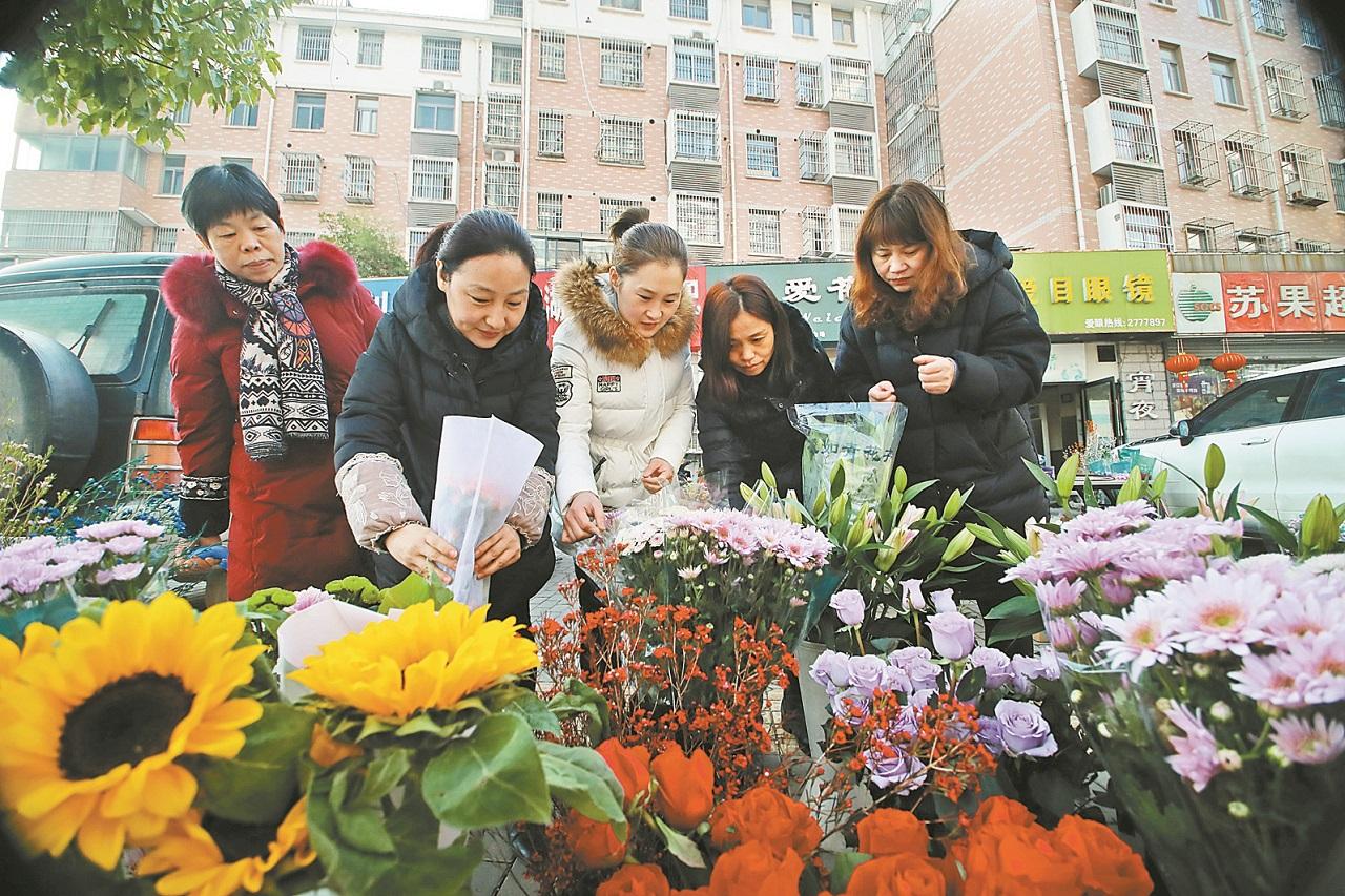 春节临近 花卉热销