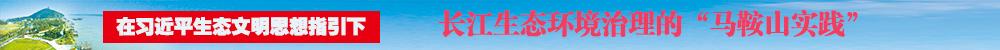 """长江生态治理的""""马鞍山实践"""""""
