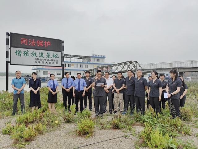 我市法院首次开展长江增殖放流生态司法修复活动